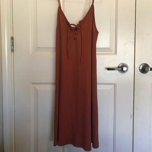 Forever21 Burnt Orange Slip Dress